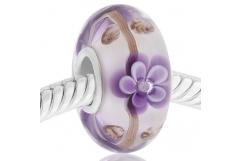 *Cristal de Murano con flore morada
