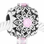 Abalorio Niagarra flor piedras rosa