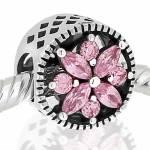 COLGANTE para PULSERA cubo color rosa
