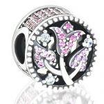 Abalorio piedras y rosa