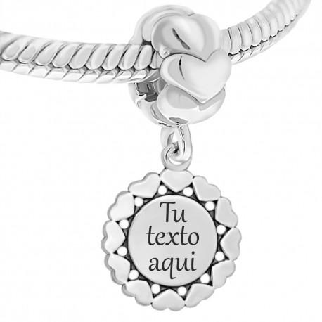 861f91c73a18 Nuevo Abalorio personalizable de plata para pulsera pandora