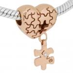 Abalorio puzle de enamorados oro rosa