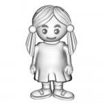 Abalorio Niagarra niña con coletas