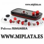 PULSERA CON 11 ABALORIOS EN TONOS ROJOS H03